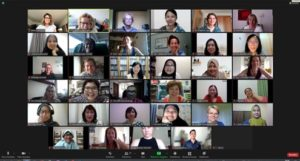 Screenshot of most attendees of the Zoom-Meeting